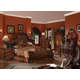 Acme Dresden Traditional Arch Bedroom Set in Cherry Oak