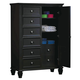 Coaster Sandy Beach Door Chest in Black 201328