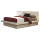 Coaster Jessica King Platform Bed with Rail Seating and Lights in White