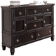 Greensburg Dresser in Black CLEARANCE