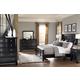 Greensburg 4-Piece Panel Bedroom Set in Black