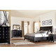 Greensburg 4-Piece Sleigh Storage Bedroom Set in Black