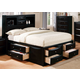 Acme Manhattan Queen Storage Bed in Black 14110Q