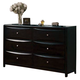 Acme Manhattan 6-Drawer Dresser in Black 14117 CLEARANCE