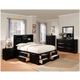 Acme Manhattan Storage Bedroom Set in Black