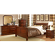 Homelegance Chateau Brown Sleigh Panel Bedroom Set in Warm Distressed Cherry