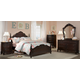 Homelegance Cinderella Poster Bedroom Set in Dark Cherry