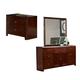 Homelegance Copley Nightstand, Dresser, and Mirror in Dark Brown 815-456
