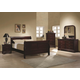 Coaster Louis Philippe Sleigh Bedroom Set in Cherry