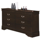 Coaster Louis Philippe Dresser in Cappuccino 202413
