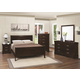 Coaster Louis Philippe Sleigh Bedroom Set in Cappuccino
