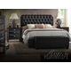 Acme Ireland PU Platform Bedroom Set in Black