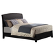 Acme Ireland Eastern King PU Platform Bed with Rounded Headboard in Black 14357EK