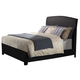 Acme Ireland Full PU Platform Bed with Rounded Headboard in Black 14440F