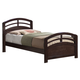 Acme San Marino Twin Arched Bed in Dark Walnut 14980T