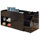 Embrace Twin Loft Bed with Right Storage Steps in Merlot