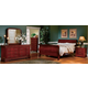 Homelegance Dijon Sleigh Bedroom Set in Martini Cherry