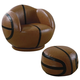 Coaster Small Kids Basketball Chair and Ottoman 460176