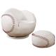 Coaster Small Kids Baseball Chair and Ottoman 460177