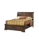 Acme Hennessy Queen Sleigh Storage Bed in Brown Cherry 19450Q