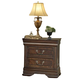 Acme Hennessy 3-Drawer Nightstand in Brown Cherry 19453