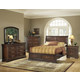 Acme Hennessy Sleigh Storage Bedroom Set in Brown Cherry