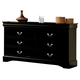 Acme Louis Phillipe III 6-Drawer Dresser in Black 19505