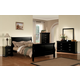 Acme Louis Phillipe III Sleigh Bedroom Set in Black