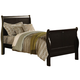 Acme Louis Phillipe III Full Sleigh Bed in Black 19508F