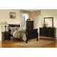 Acme Louis Phillipe III Sleigh Kids Bedroom Set in Black