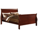 Acme Louis Phillipe III Eastern King Sleigh Bed in Cherry 19517EK
