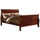 Acme Louis Phillipe III Queen Sleigh Bed in Cherry 19520Q