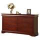Acme Louis Phillipe III 6-Drawer Dresser in Cherry 19525