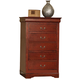 Acme Louis Phillipe III 5-Drawer Chest in Cherry 19526