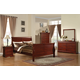 Acme Louis Phillipe III Sleigh Bedroom Set in Cherry