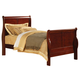 Acme Louis Phillipe III Full Sleigh Bed in Cherry 19528F