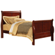 Acme Louis Phillipe III Twin Sleigh Bed in Cherry 19530T