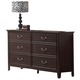 Acme Charleston 6-Drawer Dresser in Espresso 19595
