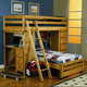 Coaster Wrangle Hill Twin Over Twin Loft Bed w/ Built-In Desk 460141