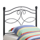 Coaster Youth Twin Headboard Only in Dark Matte Metal 450102T