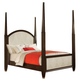 Acme Audry 2-Tone Eastern King Poster Bed in Dark Cherry 19957EK