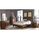 Homelegance Kasler Platform Bedroom Set in Medium Walnut