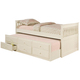 Coaster La Salle Twin Captain's Bed w/ Trundle and Storage Drawers in White 300107
