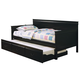 Coaster Fountain Louis Philippe Twin Daybed with Trundle in Black 300036BLK
