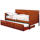 Coaster Fountain Louis Philippe Twin Daybed with Trundle in Oak 300036OAK