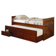 Coaster Fountain Louis Philippe Twin Daybed with Trundle in Cherry 300036CH