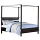 Acme London California King Canopy Bed in Black 20042CK