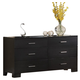 Acme London 6-Drawer Dresser in Black 20065
