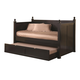 Coaster Classic Twin Daybed with Trundle in Satin Black 300027