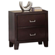 Acme Preston 2-Drawer Nightstand in Espresso 20093 CLEARANCE